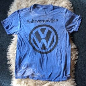 Official Volkswagen blue burn out tee tie dye